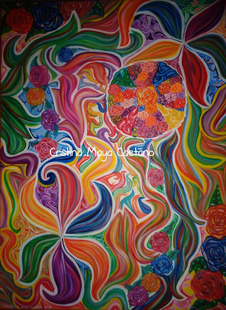 ROSAS DA ALMA PARA TI (ROSES OF THE SOUL FOR YOU). 80X60 cm - 2015