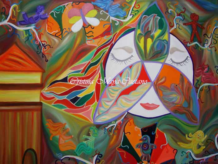 Oh tu intuitivo ser... (Oh you be intuitive...) -45x60cm.
