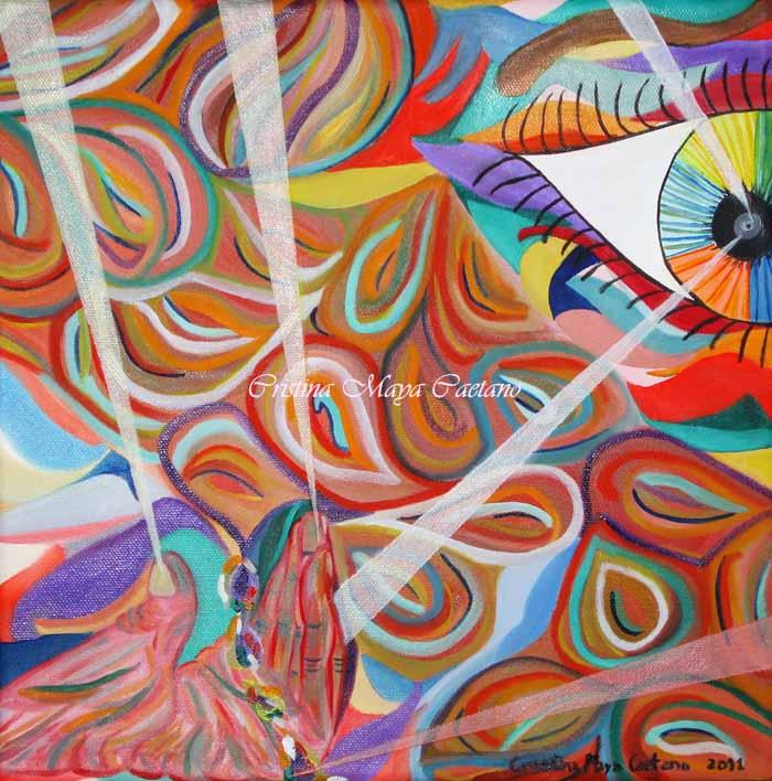 Pintando... (Painting...) 30X30 cm. 2011
