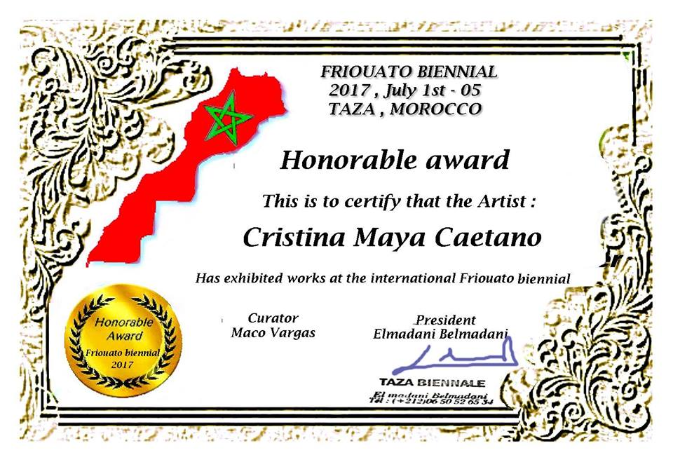 Awards Cristina Maya Caetano