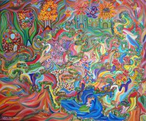 Enchanted garden – 40X50cm.2011