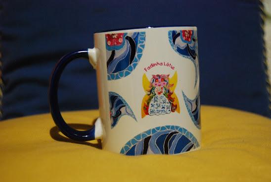 Blue mug with the Little Fairy  Lotus symbol
